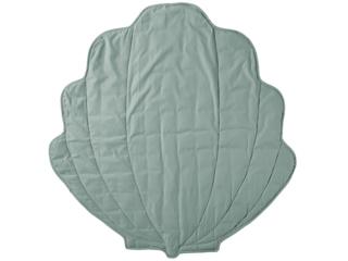 Krabbeldecke Bio-Baumwolle Muschel dusty green