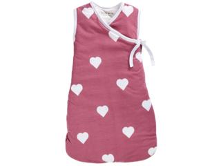 Schlafsack Baby Cross-Over Bio-Baumwolle ohne Arm Herz
