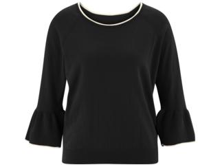 """Damen Pullover mit Volant-Ärmeln """"Gesine"""" black"""