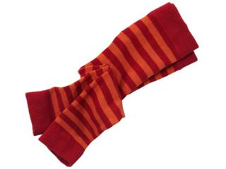 Baby Leggings Baumwolle (kbA) rot-geringelt