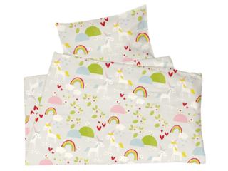 Kinderbettwäsche Bio-Baumwolle Jersey Einhörner