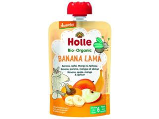 """Pouchy """"Banana Lama"""" Bio-Früchtepüree"""
