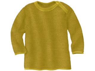 Baby und Kinder Pullover Bio-Merinowolle (kbT) melange-curry-gold