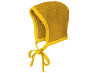 Baby Strickmütze melange-curry-gold