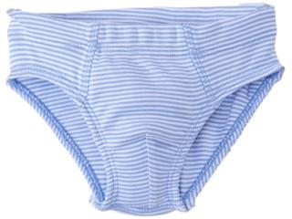 Jungen Slip Bio-Baumwolle hellblau-weiß gestreift