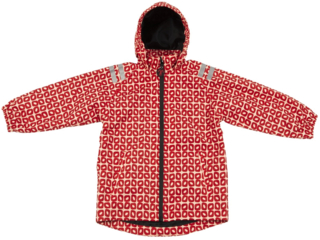 "Kinder Regenjacke ""Funky Red"""