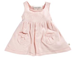 Baby und Kinder Kleid Strick-Qualität Bio-Baumwolle rose melange