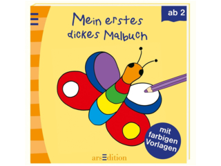 Mein erstes dickes Malbuch,mit farbigen Malvorlagen