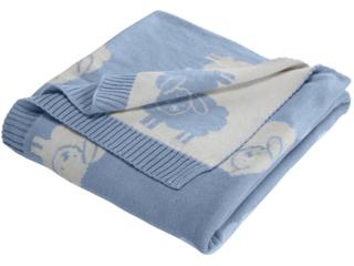 Babydecke Bio-Baumwolle, Schäfchen light blue