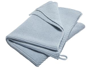 Handtuch Bio-Baumwolle Perl-Strick-Qualität sky blue