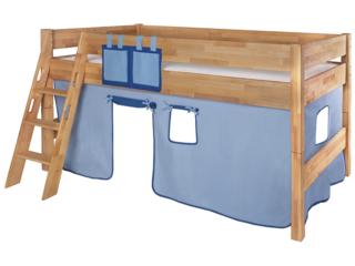 Spielvorhang für Spiel- und Hochbett, 3-teilig, hellblau-dunkelblau