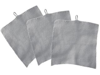 Stricklappen Bio-Baumwolle 3er-Set light grey-melange