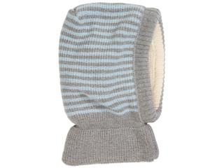 Baby und Kinder Schalmütze grau-bleu