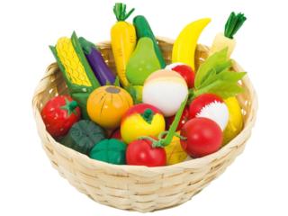Kaufladen Obst und Gemüse aus Holz 21-teilig