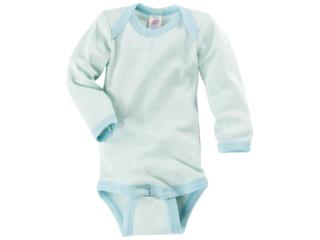 Baby Body Langarm gletscher-geringelt