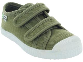 Kinder Schuhe Sneaker mit Klettverschluss oliv