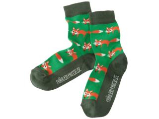 Kinder Socken Fuchs grün