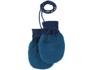 Baby Handschuhe melange-marine-blau