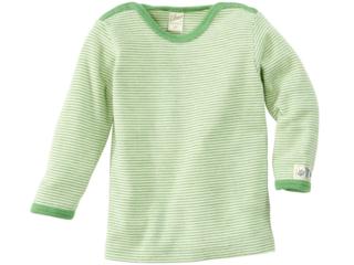 Langarm-Schlupfhemd grün-geringelt