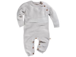 Baby Overall Strick-Qualität hellgrau melange