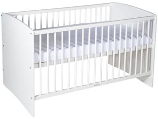 "Kinderbett ""Moritz"", Buche massiv, weiß lackiert"