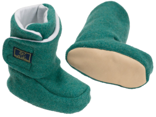 Baby Hausschuhe Walkpuschen melange-grün