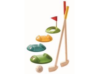Kinder Mini-Golf Komplettset aus Kautschukholz, 9-teilig
