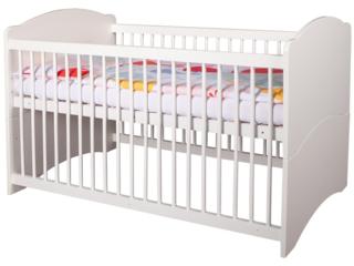 """Kinderbett """"Lea"""", Buche massiv, weiß lackiert"""