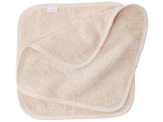 Waschlappen Bio-Baumwolle Frottee, 2er-Set natur