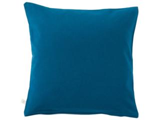 Kissenbezug Bio-Baumwolle Biber-Qualität blau