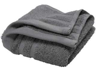 Handtuch Bio-Baumwolle Frottee grau