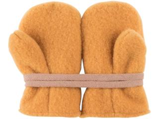 Kinder Handschuhe Fäustlinge Bio-Merino-Wollfleece bernstein