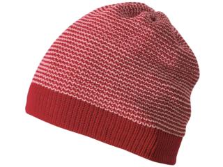 Baby Mütze Beanie melange-bordeaux-rosé