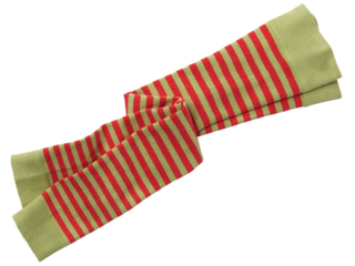 Kinder Leggings Baumwolle (kbA) kiwi-geringelt