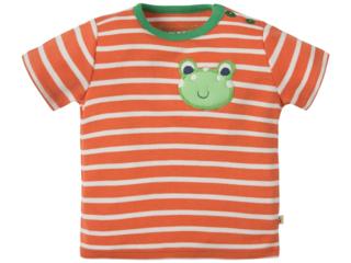 Baby und Kinder T-Shirt Frosch orange