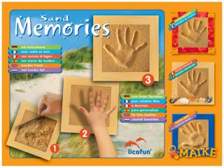 Sand Memories Hand- oder Fußabdruck mit Holzrahmen