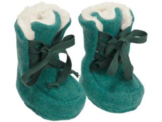 Baby Hausschuhe Walk-Boots melange-grün