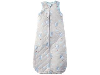 Schlafsack Baby Bio-Baumwolle Jersey ohne Arm Ballon blau