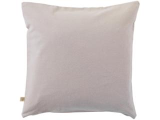 Kissenbezug Bio-Baumwolle Biber-Qualität grau