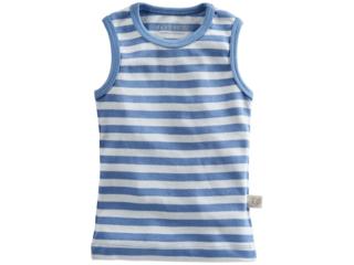 Baby und Kinder Unterhemd Bio-Baumwolle blau-off white