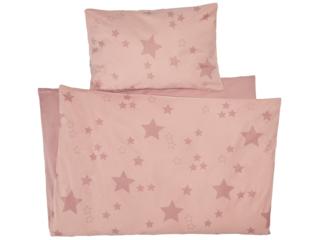 Kinderbettwäsche Bio-Baumwolle Stern Rosa