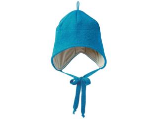 Baby und Kinder Mütze, Merino-Wollwalk (kbT) blue