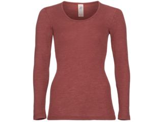 Damen Unterhemd Langarm kupfer