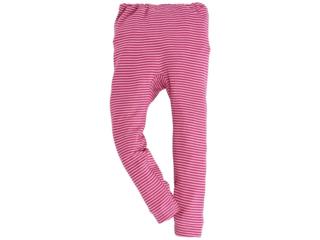 Kinder Unterhose langes Bein pink-geringelt