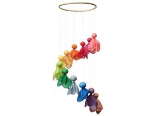 Baby Mobile Feentanz Bastelset, Regenbogenfarben