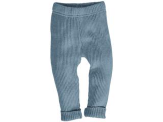 Baby und Kinder Leggings Bio-Baumwolle Strick blau