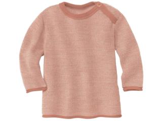 Baby und Kinder Pullover Bio-Merinowolle (kbT) melange-rosé-natur