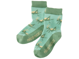Kinder Socken Grashüpfer grün