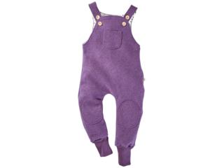 Kinder Latzhose Bio Schurwoll-Walk lila