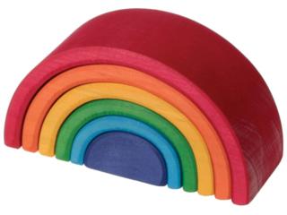 Kleiner Regenbogen aus Lindenholz, 6-teilig, bunt lasiert
